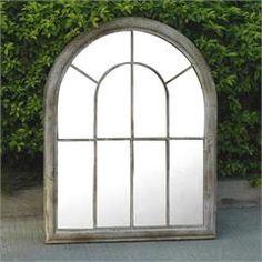 Garden Mirrors, Garden Windows, Outdoor Mirror, Architectural Plants, Rogers Gardens, Mirrors For Sale, Rustic Gardens, House Wall, Garden Features