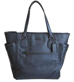 Coach Large Leather Mickie Tote Bag -