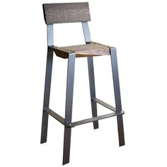 Order your Urban Forge 30-inch Iron Barstool with solid wrought iron frame online today. Design yours with custom iron finish and wood seat options.