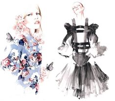 FASHION ILLUSTRATIONS (3) by ANTONIO SOARES / HAND MADE, DRAWING ...
