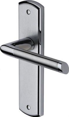Z64 interior door handle in polished chrome finish suitable for a latch lock interior door for Interior door handles with backplates