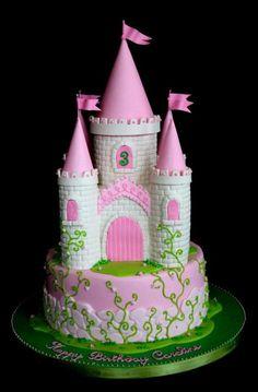 Princess Castle Cake by http://www.veryuniquecakes.com