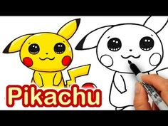 ) Learn how to draw this Cute Pokemon Go Pikachu easy step by step. He's an electric type Pokemon so watch out for his awesome lightnin. Drawing Lessons For Kids, Easy Drawings For Kids, Love Drawings, Kawaii Drawings, Disney Drawings, Drawing Ideas, Drawing Disney, Drawing Tips, Pencil Drawings