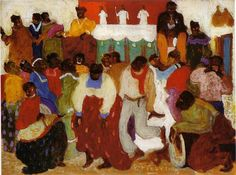 "Pedro Figari-1861-1938/first paintings1921- ""Candombe"""