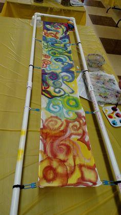 Painting Classes, Silk Painting, Student Work, Elementary Art, Silk Scarves, Shibori, Surface Design, Printing On Fabric, Decoupage
