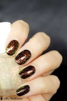 Shine on, Shine of the Times – 28 days of SoNailicious Nails – Day 16