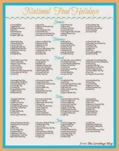 Photos of national food days calendar 2018 2018 calendar template - national food day calendar printable printable calendar 2018 calendar 2018 List Of National Days, Today Is National, Daily National Holidays, National Months, National Day Holiday, Holiday List, Holiday Recipes, Holiday Fun, Holiday Ideas