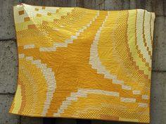 Jill Collins Modern Quilt Guild monochromatic challenge piece - Yellow Quilt