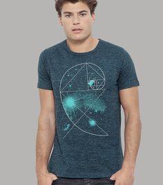 """Shirt Men Dark Heather Denim """"Birdy Of The Universe"""" von silberfischer auf Etsy"""