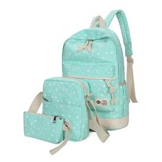 Preppy Style Stars Printing Backpack Women Student School Bags Travel Bags Backpacks For Teenage Girls Mochilas 3pcs/set