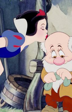 *SNOW WHITE & BASHFUL ~ Snow White and the Seven Dwarf's, 1937