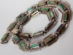 Taxco Mexican Silver Deco Necklace by TheButterflyBoxdeitz on Etsy, $155.00