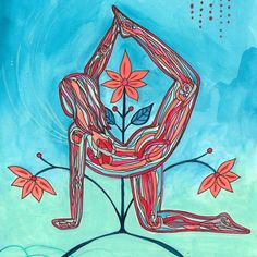 Your body is a universe connected to and reflecting all that is. Robin combines the studies of astrology and yoga in an original sequence co. Kundalini Yoga, Yoga Meditation, Yoga Kunst, Frases Yoga, Yoga Drawing, Yoga Illustration, Yoga Workshop, Chakra Art, Basic Yoga