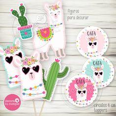 Llama Birthday, 10th Birthday, Girl Birthday, Birthday Parties, Cumpleaños Diy, Deco Pastel, Cactus, Llama Alpaca, Topper
