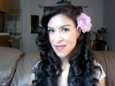 Wavy Classic Vintage Look with Hot Rollers
