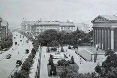 1896. Múzeum körút, a Nemzeti Múzeumnál.