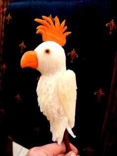 Veggie Art - Carrot & Diakon Bird.