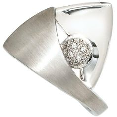 Damen-Ring teilmattiert Sterling-Silber 925 rhodiniert 12 Diamant 0.06 ct. 58 (18.5) Dreambase, http://www.amazon.de/dp/B00EYH5I7K/ref=cm_sw_r_pi_dp_eekjtb1A228VZ