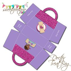 Bolsa McStuffins Treat Party Box 2 fiesta de por SweetBootique