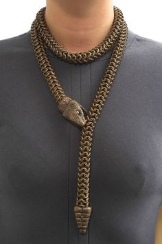 Snake Necklace by Leah Aripotch Buy it: http://shop.inspirare.com/items/snake-necklace