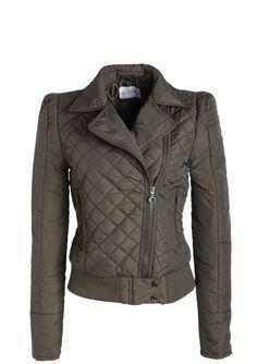 dELiAs > Puff-Sleeve Moto Nylon Coat > tops > coats > view all coats