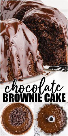 Cake Mix Desserts, Cake Mix Recipes, Pound Cake Recipes, Just Desserts, Dessert Recipes, Tart Recipes, Baking Recipes, Ultimate Chocolate Cake, Chocolate Brownie Cake