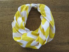 Infinity Scarf with Snap Closure for Baby, Toddler (Yellow Chevron Jersey Knit) on Etsy, $28.00