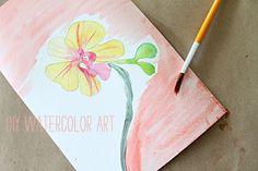 Great tips for DIY Watercolor Art