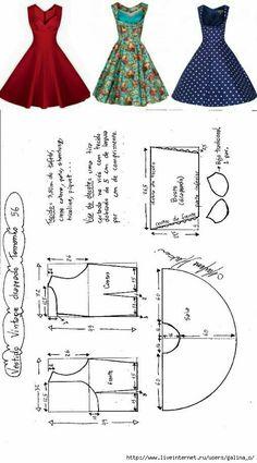 Risultati immagini per printable costura vintage Sewing Dress, Dress Sewing Patterns, Diy Dress, Sewing Clothes, Party Dress, Dress Ideas, Dress Hire, Crochet Clothes, Retro Apron Patterns
