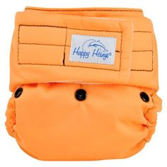Happy Heinys One-Size Pocket Diaper in Halloween Orange with Black Snaps in Velcro, Available for pre-order here: http://www.naturebumz.com/happyheinys-pocket-diaper.html