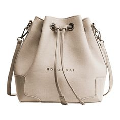 Canvas Drawstring Letter Crossbody Bag Khaki ($24) ❤ liked on Polyvore featuring bags, handbags, shoulder bags, pink crossbody purse, drawstring handbags, pink crossbody, cross-body handbag and pink handbags