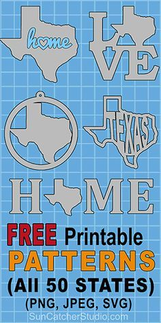 Free state map, outlines, shapes, patterns, and print, download stencils coloring pages of all 50 United States (US) states. Cricut Tutorials, Cricut Ideas, Cricut Stencils, Cricut Fonts, Cricut Vinyl, Silhouette Cameo Projects, Silhouette Design, Map Outline, State Outline
