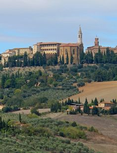 "Pienza, Tuscany Italy--Possible stop from Orvieto to Florence.  Rick calls it a ""Jewel of the Renaissance."""