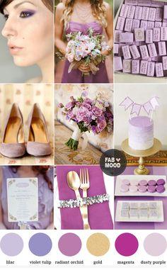 Orquidea y Violeta #Tendencias2014 #Wedding #BodasO   | http://fabmood.com/colour-trend-spring-2014-radiant-orchid/