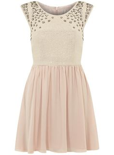 DP Collection Nude embellished dress - View All  - Dresses