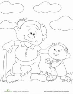 grandpa coloring page - 4 Year Old Coloring Pages