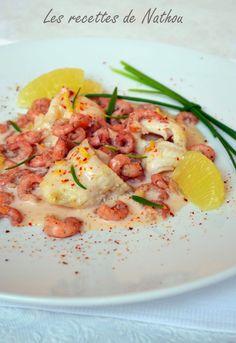 Un peu de poisson pour changer ? De délicieux filets de sole, quelques petites crevettes, une sauce crémeuse au Porto, le tout légèr...