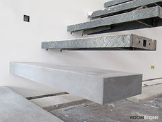 RoomStone® News - Beton.org Reports on Pre-Fabricated Fair-Faced Concrete Stairs
