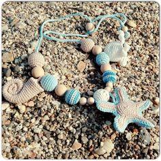 Sling necklace for mother toy for newborn por OmGanchillo en Etsy