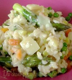 Risotto with green asparagus and Parmesan cheese - Yummy Food Recipes Surimi Recipes, Endive Recipes, Tostadas, Coffe Recipes, Crohns Recipes, Jucing Recipes, Achiote, Gourmet Recipes, Healthy Recipes