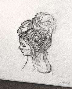Sketchbook Drawings, Pencil Art Drawings, Cute Drawings, Drawing Sketches, Pencil Sketching, Doodle Sketch, Drawing Ideas, Art Des Gens, Drawing People