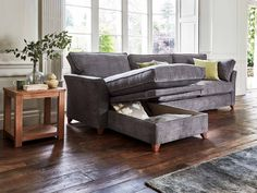 The Bishopstrow Left Chaise Storage 4 Seater Sofa Bed