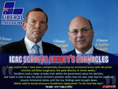 More like a hemorrhoid than a barnacle, #icac takes Abbott's mate Sinodinos out  http://fuqd.at/xPE6J   #AUSpol