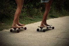 Girls on Skateboards