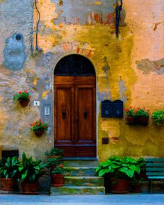 Pienza doorway,  loved the color and texture