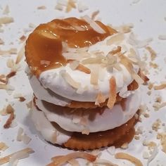 I love treating myself to Ritz crackers dipped in white chocolate sprinkled with crunchy toasted coconut and drizzled with sea salted caramel sauce  I want Ritz to send me to the tropical Hawaii islands  #luvritzsweepstakes #instagood #nomnom #ritzcrackers