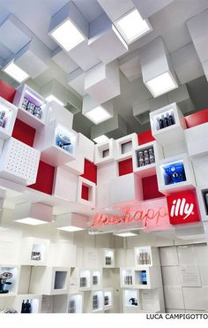 Design Illy Temporary Shop Design by Caterina Tiazzoldi Interior Styles Pos Design, Booth Design, Retail Design, Display Design, Display Ideas, Design Ideas, Design Inspiration, Exhibition Stand Design, Exhibition Display