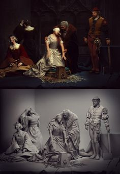 // The Execution of Lady Jane Grey,The tribute. by Baolong Zhang
