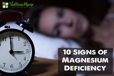 10 Signs of Magnesium Deficiency ... this is a super important health topic. Taking magnesium has improved my sleep and hormones (and helped me avoid morning sickness in my last pregnancy!)
