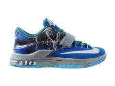 cheap for discount 22a27 45d4f Nike KD 7 iD - Chaussure De Basket-ball pour Homme Pas Cher Bleu Blanc